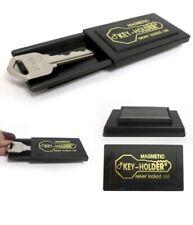 2 Pk Magnetic Hide A Key Emergency Spare Key House Car Holder Hider Set Black