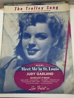 The Trolley Song Vintage Sheet Music 23714 Judy Garland Meet Me In St Louis