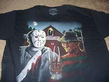 A Nightmare on Elm Street Mens Freddy Krueger Jason Black T-Shirt Size Large L