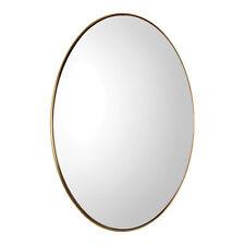Deep Profile Classic Brass Oval Wall Mirror | Vanity Gold Elegant Mid Century