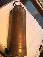 Brass 2.5 Gallon PYRENE Soda-Acid A-1 #C HandHeld Fire Extinguisher-not Working