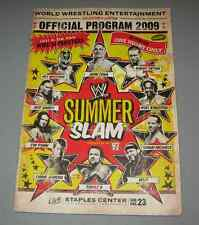 Rare WWE SummerSlam 2009 Program Staples Center HBK CM Punk Jeff Hardy Triple H
