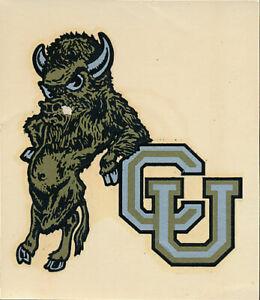 University of Colorado Original 1940's Decal VTG NCAA Ralphie Bison Buffaloes 5A