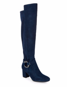 NIB Karl Lagerfeld Cami Over the Knee Boots - Midnight Blue size 6