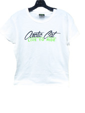 Arctic Cat Women's Tee Shirt White Size Large Live To Ride 5278-474