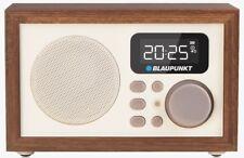 BLAUPUNKT Uhrenradio FM Radio Retro Wecker MP3 Player USB Holz Radiowecker 3W
