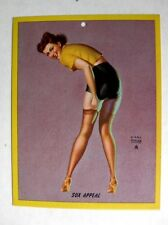 1940s Earl Moran Sexy Pin Up Girl Picture Brunette in Stockings Sox Appeal