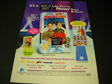 MARY-KATE & ASHLEY OLSEN are having a FASHION PARTY 1999 Promo Poster Ad MINT