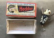 Vintage Heddon Crazy Crawler #2100 Bwh. Nice! w box & papers