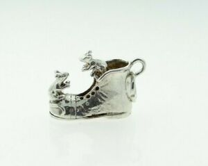 Vintage Sterling Silver Mice Playing on an Old Boot Charm