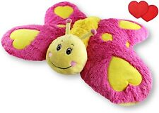 "Butterfly Zoopurr Pets 24"" Large 2-in-1 Stuffed Animal & Pillow Plush Soft Kids"