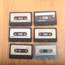 6 Scotch Miscellaneous Cassette Audio Tapes