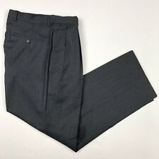 61292367d GUCCI Men's Pleated Dress Pants Gray 100% Wool Uncuffed • Size 30x28 |  Italy 46