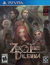 Zero Time Dilemma (Sony PlayStation Vita, 2016) Brand New+Factory Sealed