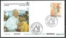 1991 VATICANO VIAGGI DEL PAPA BRASILE MACEIO - SV2