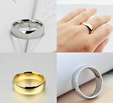 6mm Gold - Silver Tungsten Carbide Mens & Womens Wedding Band - Ring Sizes I-Z+3