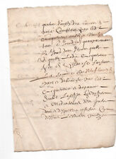 c1600 oncial manuscript document with large caps DAMAGED
