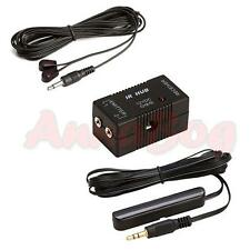 Infrared Remote Extender 2 Emitters 1 Receiver Hidden IR Repeater System Kit DC