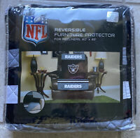 Pegasus Sports NFL Oakland Raiders Recliner Furniture Protector with Strap Black