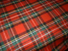 Christmas Red 100 Pure Brushed Cotton Tartan Royal Stewart Ultrasoft