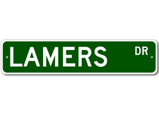 LAMERS Street Sign - Personalized Last Name Signs