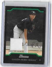CHIEN-MING WANG 2004 BOWMAN STERLING GAME USED JERSEY