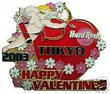 Hard Rock Cafe TOKYO 2003 Valentine's Day PIN Angel Blossoms Heart