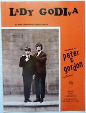 Peter & Gordon Partition de Musique Lady Godiva Capitol Publ. 18.3ms Pop Groupe