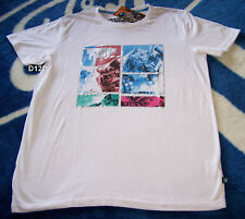 Transformers Optimus Prime Mens White Printed Short Sleeve T Shirt Size S New