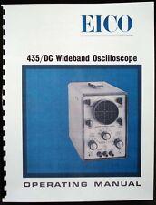 EICO Model 435 DC Wideband Oscilloscope  Instruction Manual