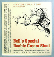 Kalamazoo Brewing Co BELL'S SPECIAL DOUBLE CREAM STOUT beer label MI 12 oz Var.1