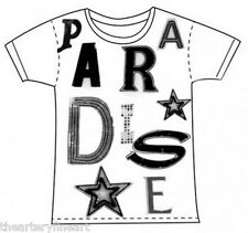 JACK PIERSON 'Paradise' Silkscreen Word Assemblage T-Shirt LARGE White **NEW**