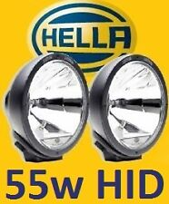 1pr Hella Rallye 4000 spot driving lights with waterproof 55W HID kit pre-fitted