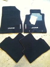 NEW OEM NISSAN JUKE BLACK CARPET NISMO STYLE MATS WITH LOGS AND RED ACCENT
