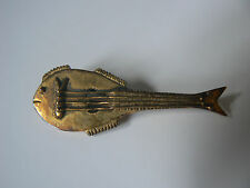 MMA Metropolitan Museum of Art Cavaco Brooch Guitar Cavaquinho 24 K Gold Plate
