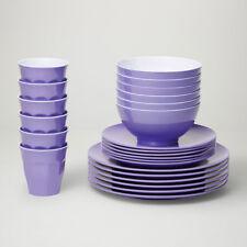 Barel Designs Lavender Melamine 48 Piece Dinner Set - Cups, Bowls, Plates