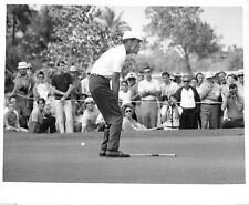Vintage Miami Golf Press Photo GARDNER DICKINSON Looks Disbelief Bad Birdie putt