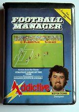 commodore 64 football manager Kevin Toms Addictive 1984 jeu vidéo data cassette