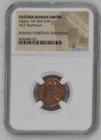 AD 364-378 Bronze Roman Coin NGC - Roman Christian Emperors