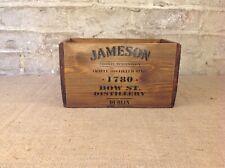 Rustic Vintage style Brown Jameson Whiskey storage box crate