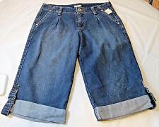 Cato Sportswear Denim Capri 14 womens ladies pants blue Jeans 9391 NWT