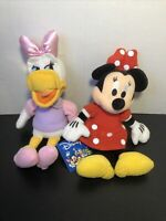 """Disney Minnie Mouse 11 """" Plush Beanbag Doll - Stuffed Toy Authentic  And Daisy"""