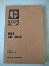 Caterpillar 528 Skidder Parts Manual Book Catalog Serno 51s129 51s287
