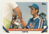 FREE SHIPPING-MINT-1993 Topps #751 Eric Hillman New York Mets Baseball Card