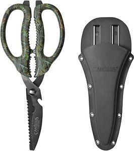 Camillus Detachable Game Shears Scissors Multi Tool Hunting Titanium Camo 19403