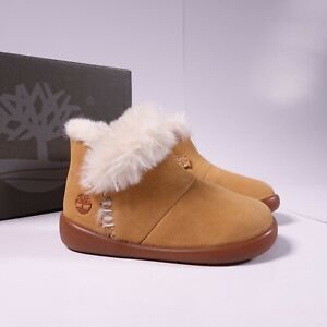 Size 3 Infant Kid's Timberland Tree Sprout Insulated Bootie TB027FP Wheat Nubuck