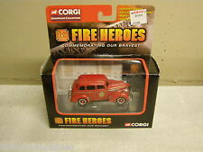 CORGI FIRE HEROES TOW TRUCK AND FIRE CHIEF LOT OF 2 MIP