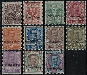 1903 Colonie italiane Eritrea Sovrastampati d'Italia  Floreale MH*