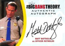 Big Bang Theory  Seasons 6 & 7 AUTOGRAPH CARD MBA2 Matt Battaglia as Officer