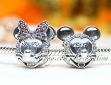 Authentic Pandora Disney Shimmering Mickey & Minnie Portrait 2 Gift Set Charm